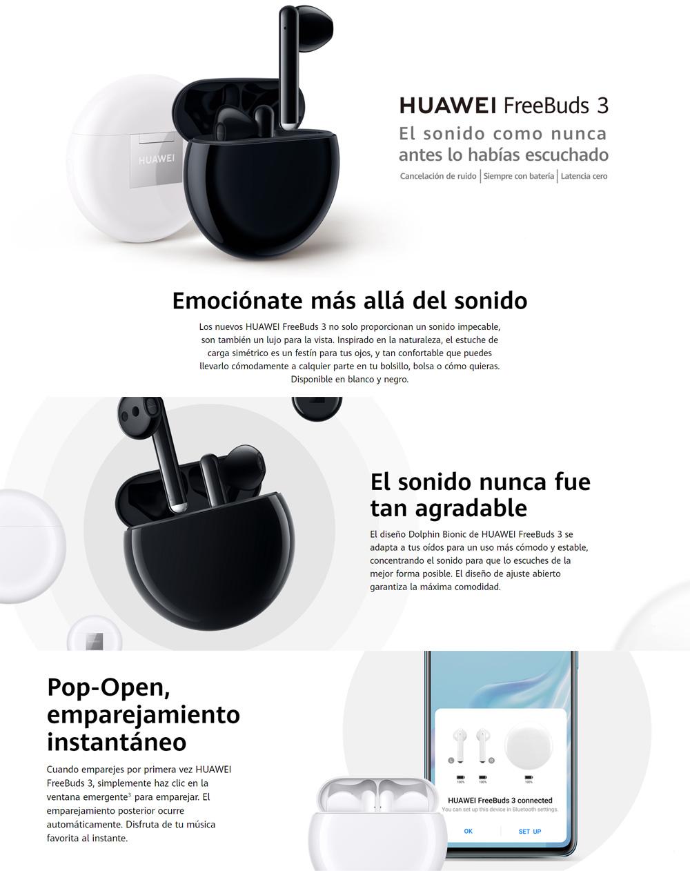 Audífonos Huawei FreeBuds 3 - blanco | La Curacao