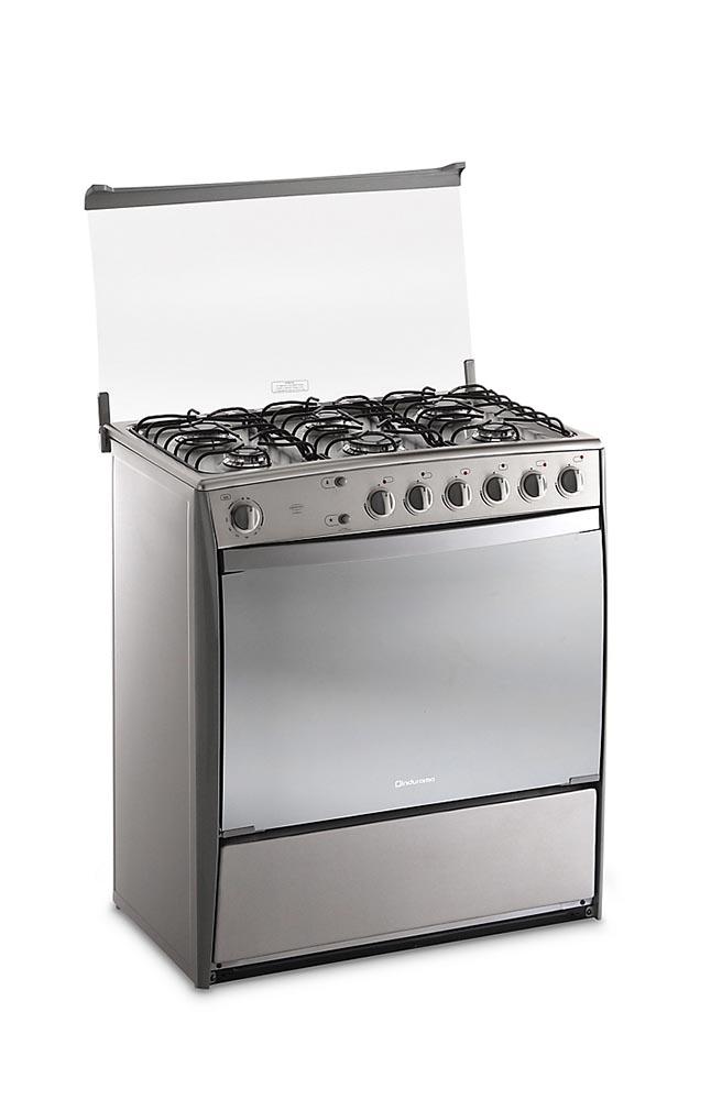 Cocina a gas indurama parma q 6 hornillas plateado la for Ofertas cocinas a gas