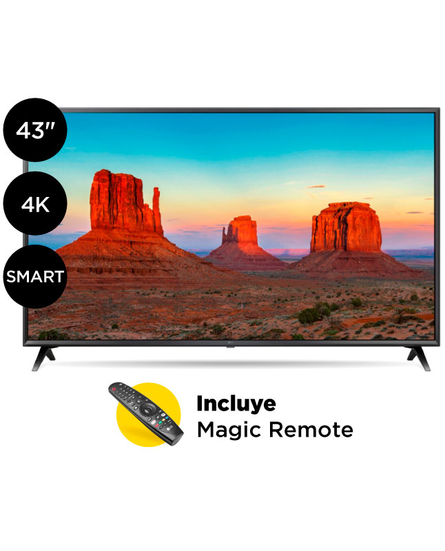 "Imagen para TV LG Ultra HD 4K Smart AI 43"" 43UK6300                                                                                          de La Curacao"