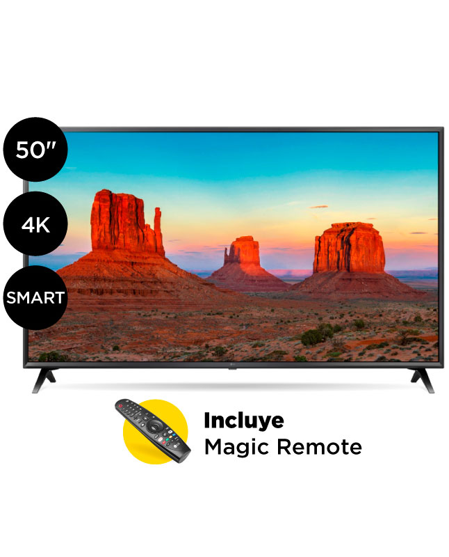 "Imagen para TV LG Ultra HD 4K Smart AI 50"" 50UK6300                                                                                          de La Curacao"