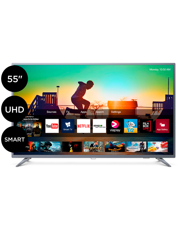 "Imagen para TV LED Philips Ultra HD 4K Smart 55"" 55PUD6513                                                                                   de La Curacao"