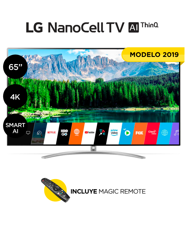 "Imagen para TV LG 65"" ultra hd 4k smart 65sm9500 nanocell                                                                                    de La Curacao"