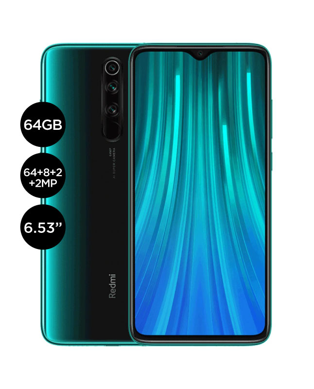 Imagen para Celular Xiaomi redmi note 8 Pro 64gb 6gb ram version global verde                                                                de La Curacao