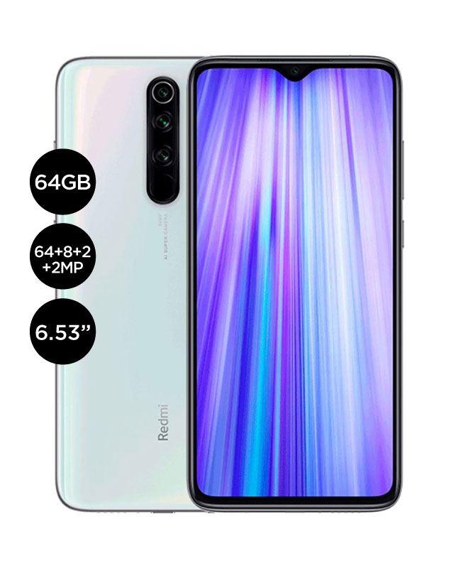 Imagen para Xiaomi redmi note 8 Pro 64gb 6gb ram version global - blanco                                                                     de La Curacao
